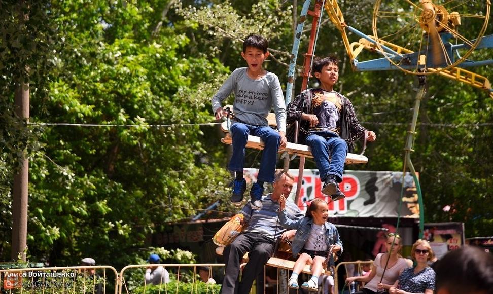 1 июня аттракционы в Центральном парке Караганды будут бесплатными для детей