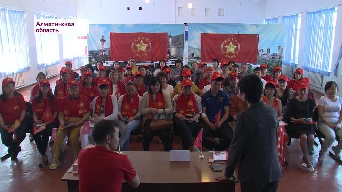 Народные коммунисты знакомят жителей Текели с программой Жамбыла Ахметбекова