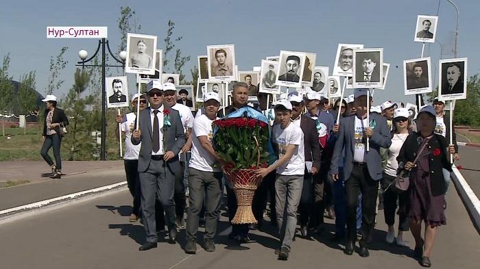 Память жертв политических репрессий почтили члены партии «Aq zhol»