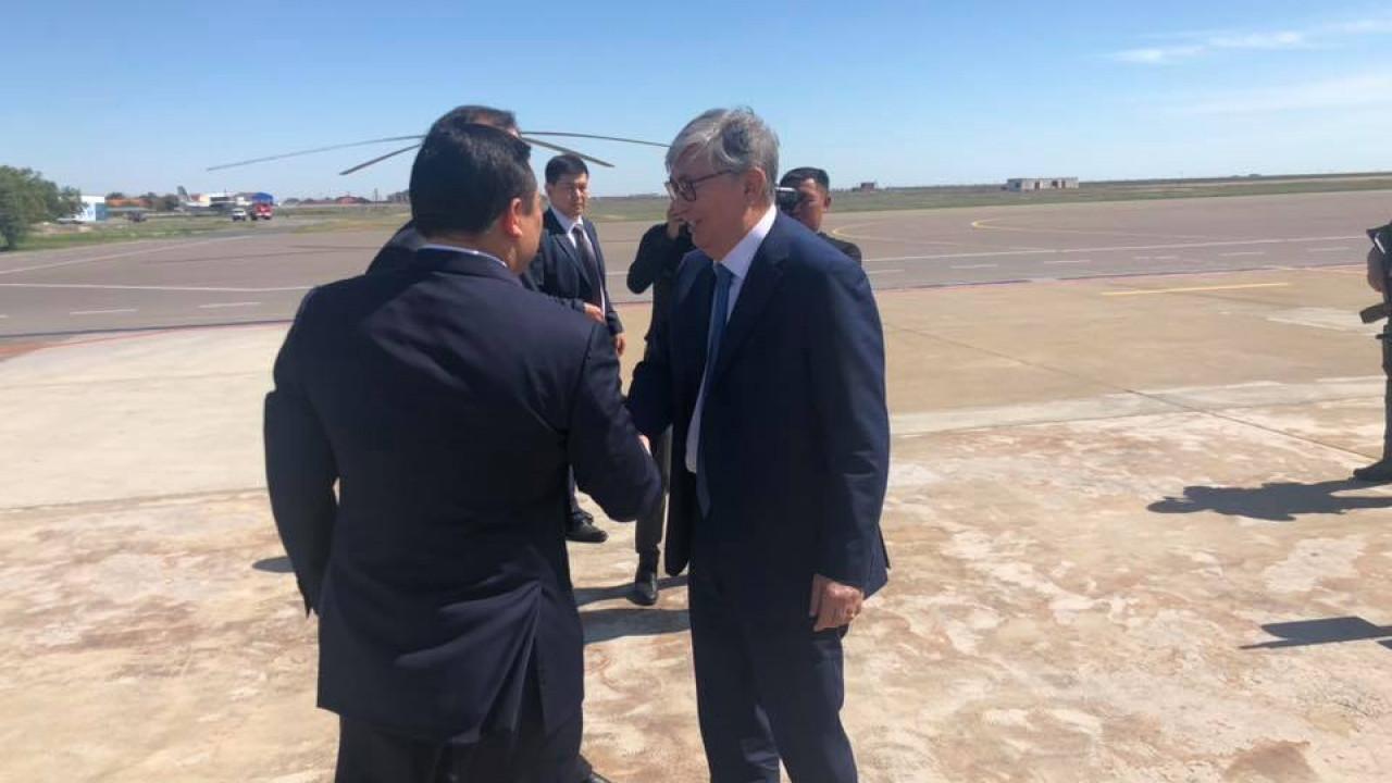 Касым-Жомарт Токаев прибыл в Атыраускую область с рабочим визитом