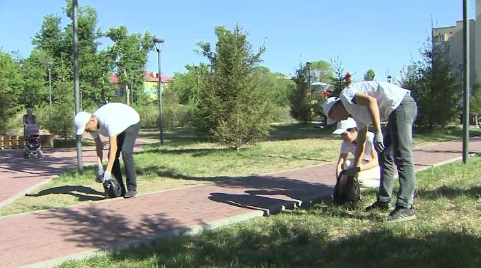 Экологическую акцию в столице провели сторонники Амиржана Косанова