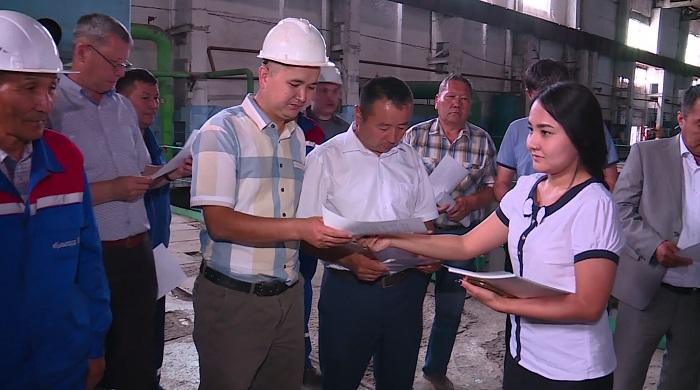 Штаб Косанова в Кызылорде посетил крупное предприятие области