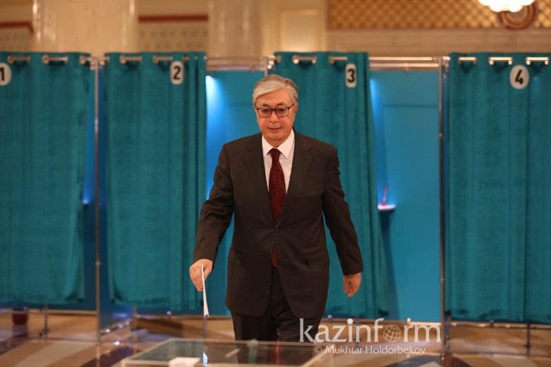 Касым-Жомарт Токаев проголосовал на выборах Президента РК