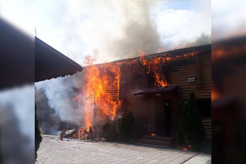 Банный комплекс горел в Алматы