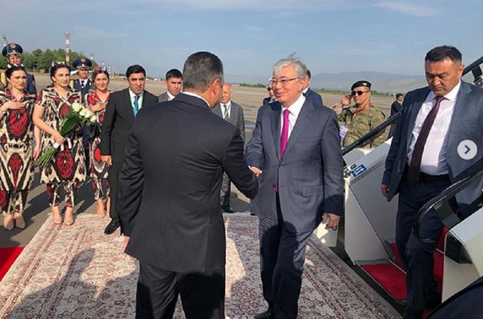 Касым-Жомарт Токаев прибыл в столицу Таджикистана