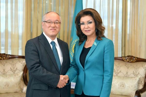 Состоялась встреча Дариги Назарбаевой с послом Японии
