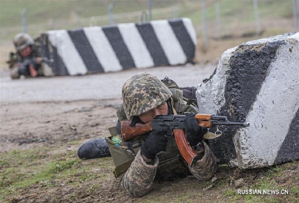 """""""Степной орел"""": в Алматинской области прошли международные учения миротворцев"""