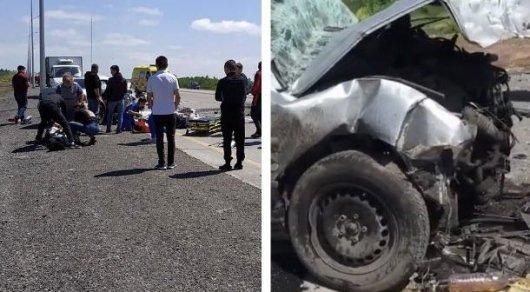 В жутком ДТП в Карагандинской области погибли 6 человек