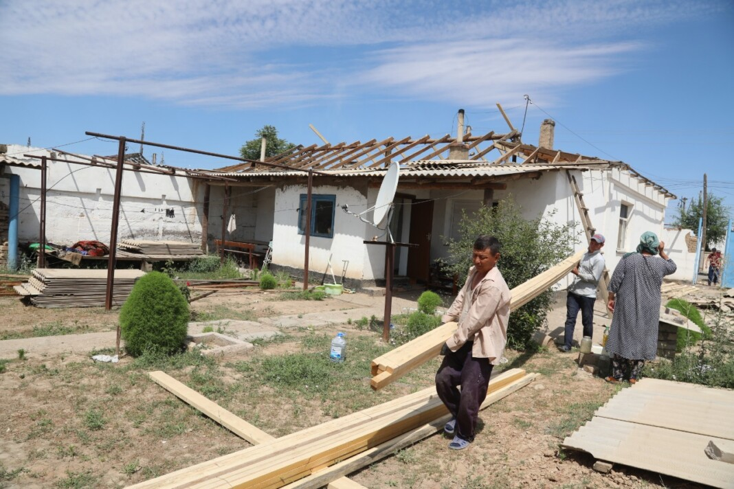 1875 домов в Арысе восстановлены