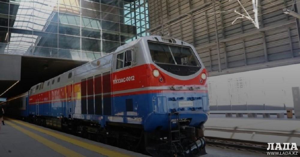 Новые поезда стали курсировать по маршруту Алматы - Мангистау