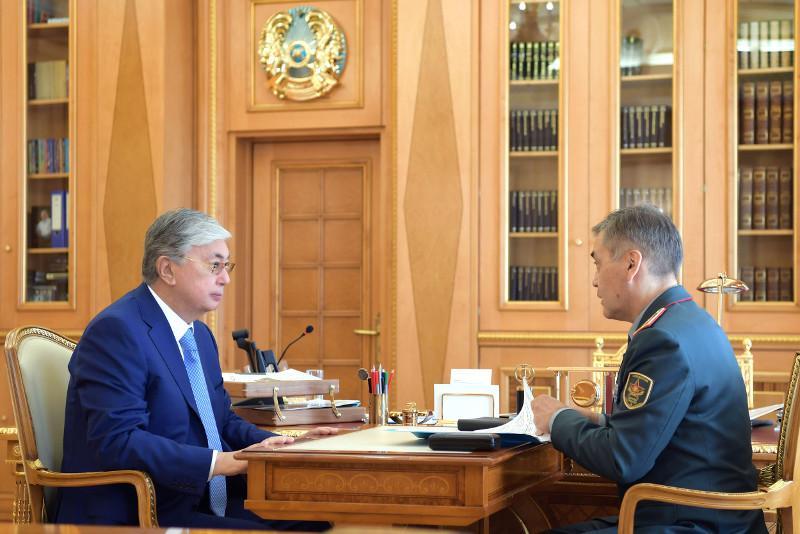 Министр обороны доложил Президенту РК о ходе восстановительных работ в Арыси