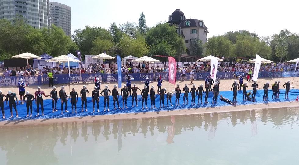 Соревнования по триатлону прошли  в Алматы