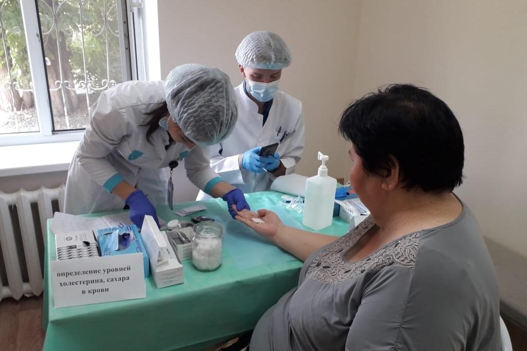 Месячник здоровья: жители микрорайона Теректы положительно отнеслись к проведению медосмотра