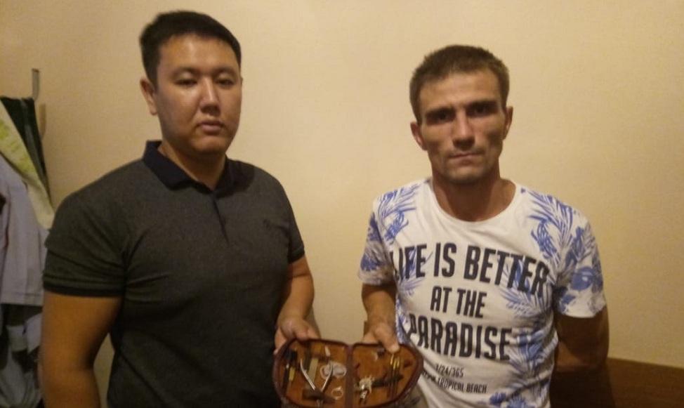 Квартирный вор задержан в Турксибском районе Алматы
