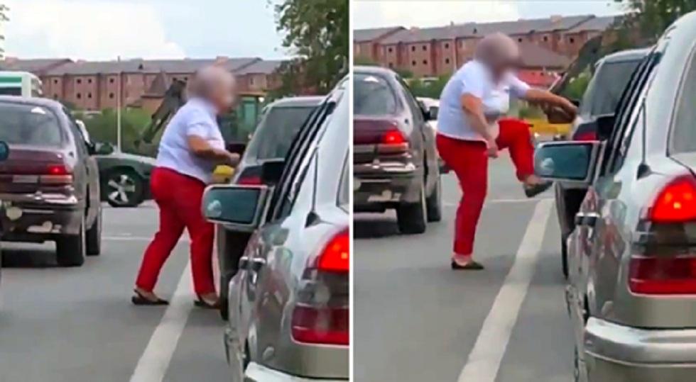 Пенсионерка наказала обидчика на дороге в Караганде