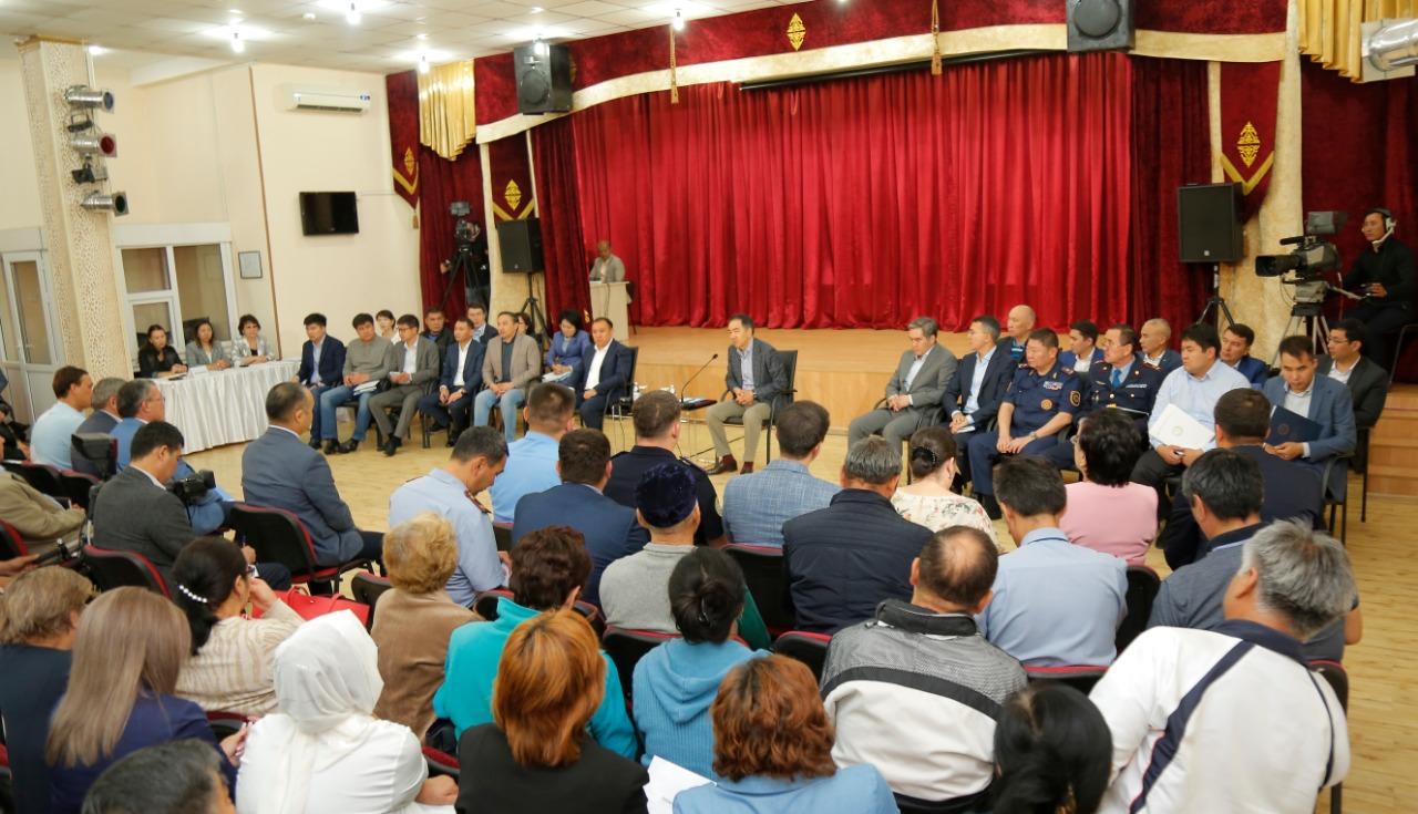 Бакытжан Сагинтаев встретился с жителями Ауэзовского района