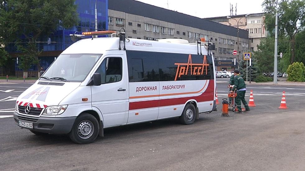 Качество построенных дорог в Алматы проверили специалисты