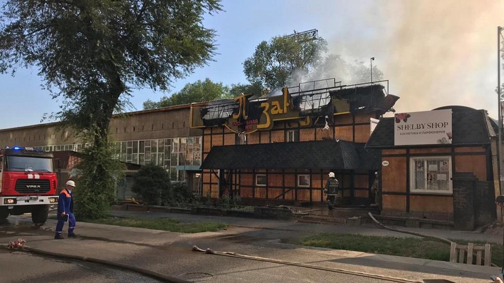 Подробности пожара в алматинском кафе озвучены