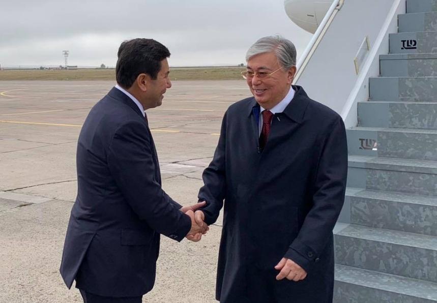 Президент Казахстана прибыл в Карагандинскую область