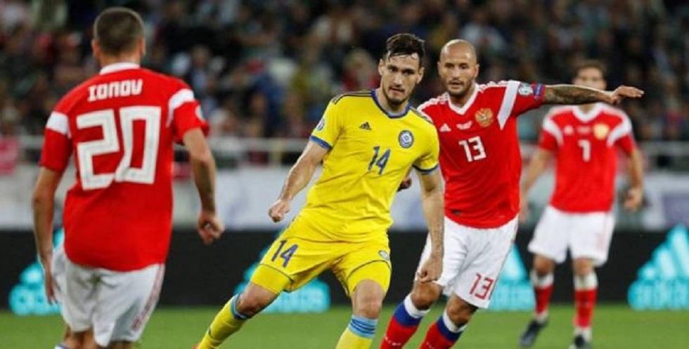 Евро-2020: сборная Казахстана по футболу проиграла России