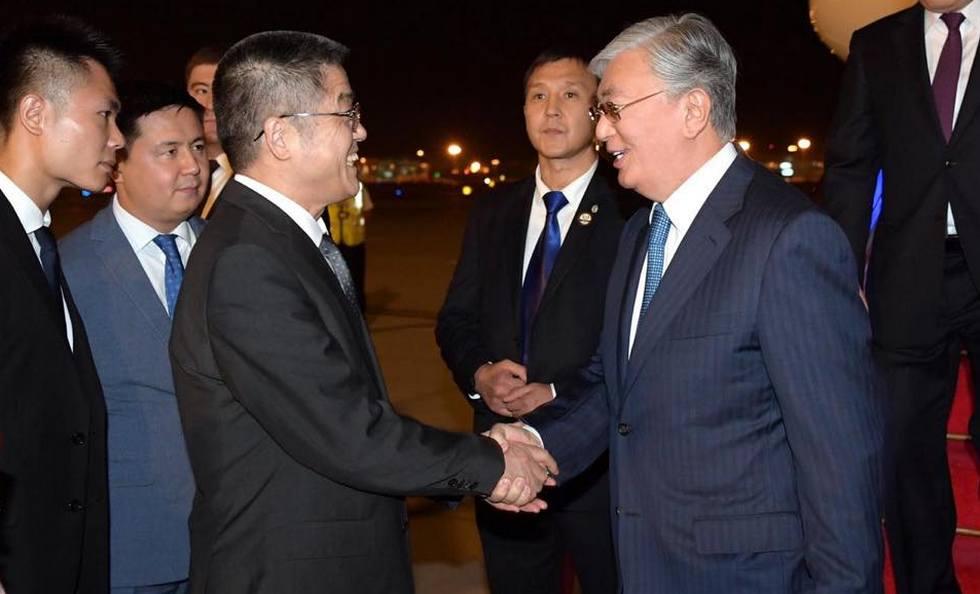 Касым-Жомарт Токаев прибыл с визитом в Китай