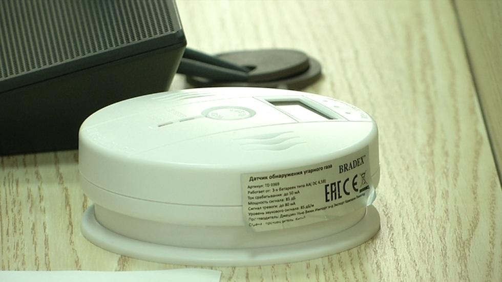 Многодетным семьям Алматы в домах установили датчики угарного газа