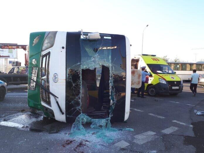 ДТП с автобусом в Шымкенте: погиб пассажир