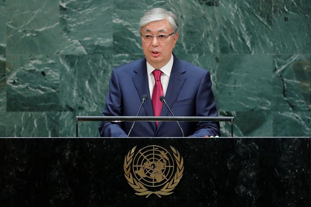 Касым-Жомарт Токаев выступил на Генассамблее ООН