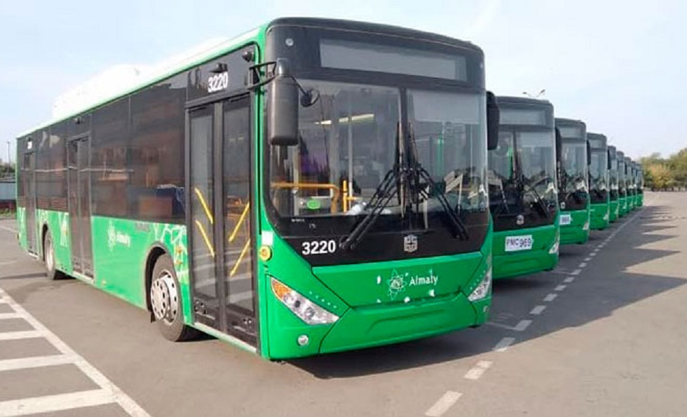 Новые автобусы поступили в Алматы