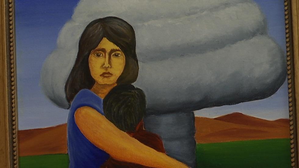 Многострадальная земля Семипалатинска в картинах жертвы радиоактивного облучения