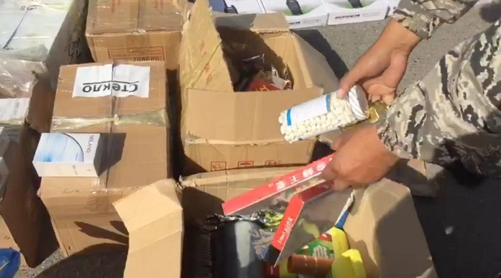 "60 килограммов китайских медикаментов изъяли на ""Хоргосе"""