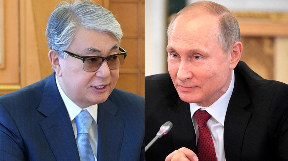 Касым-Жомарт Токаев поздравил Путина с днем рождения