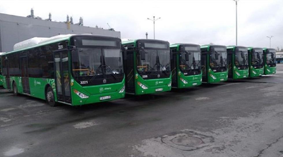 20 новых автобусов выходят на маршрут № 92 в Алматы