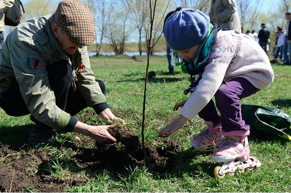 Горожане посадили деревья в рамках акции Jasyl Almaty