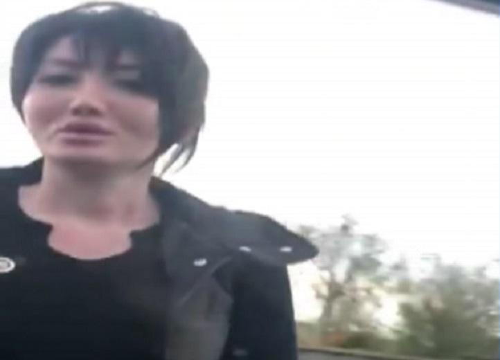 Агрессивная автоледи из Алматы набросилась на женщину из другого авто