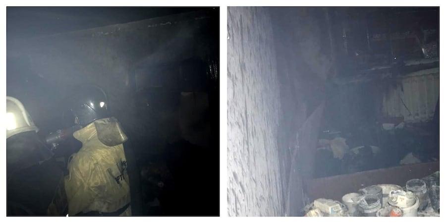 Шесть человек спасли из пожара в жилом доме Алматы