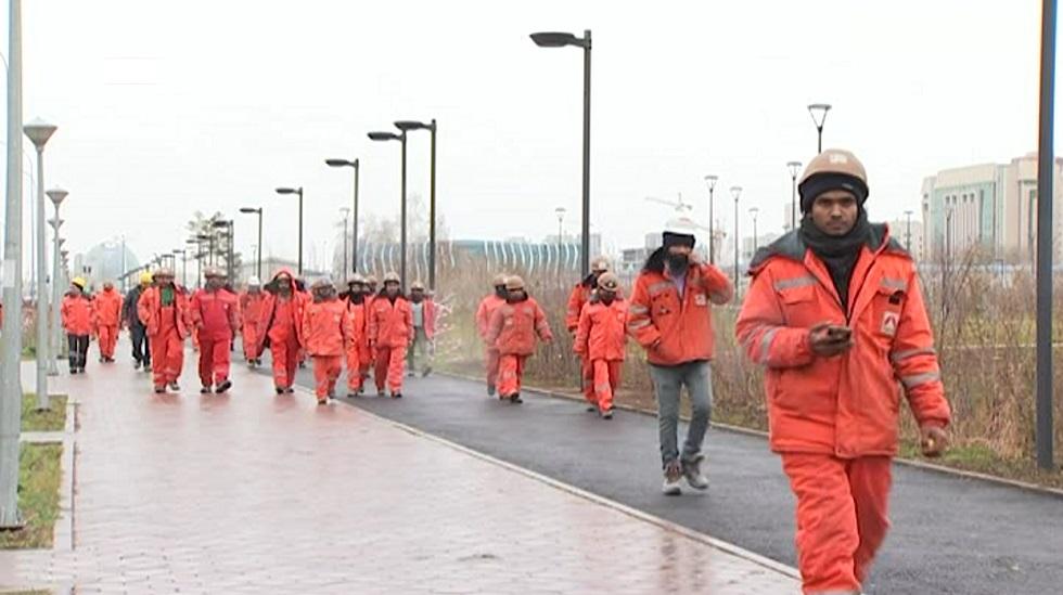 Рабочие из  Индии подрались в Нур-Султане