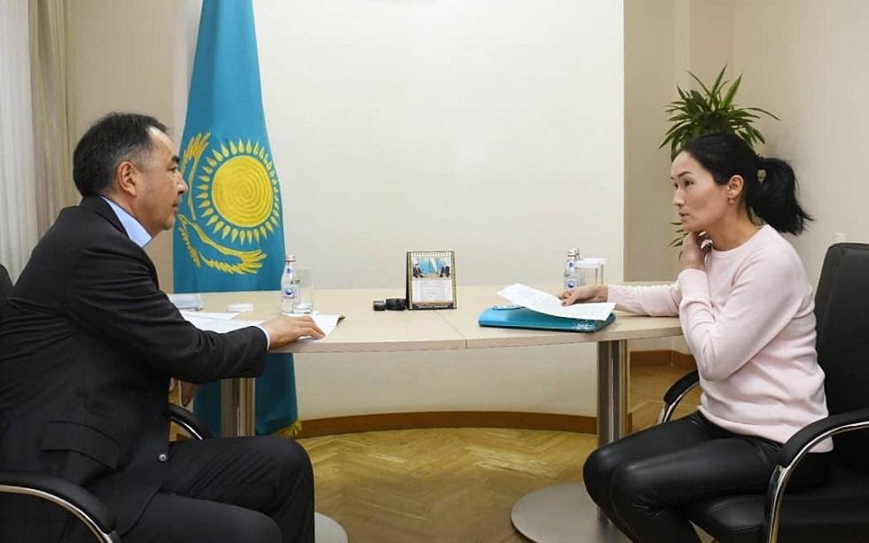 Личный прием граждан провел аким Бакытжан Сагинтаев