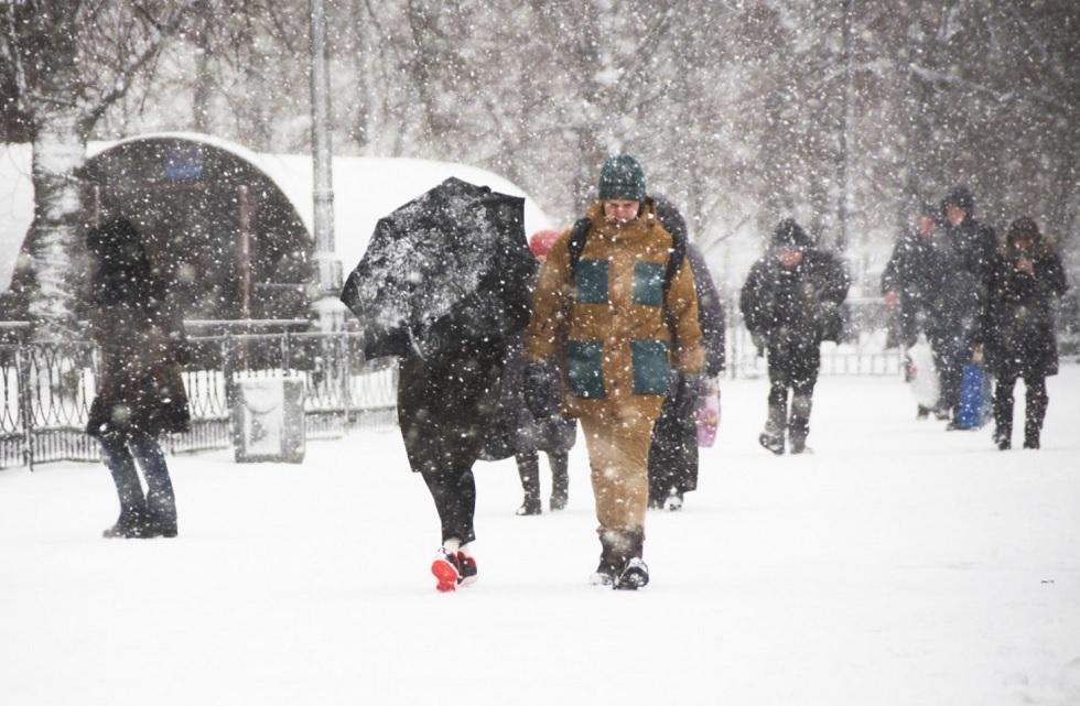 Последствия субботнего снегопада в Нур-Султане