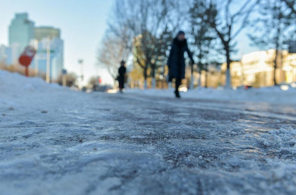 О гололеде и сосульках предупредили горожан в акимате Алматы