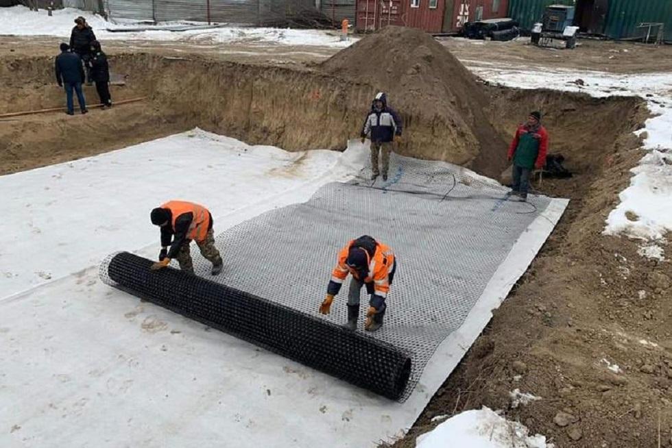 Строительство пешеходного моста началось в Шамалгане
