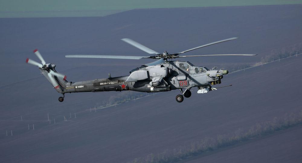 В России разбился военный вертолет Ми-28