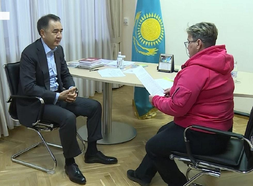 Аким Алматы Бакытжан Сагинтаев провел прием горожан