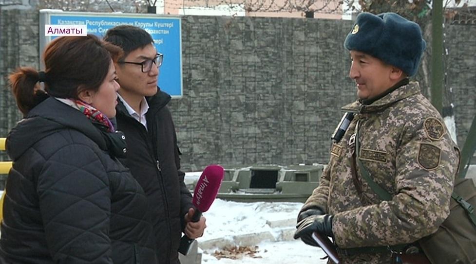 Солдат-контрактник получил тяжелую травму во время несения службы в Алматы