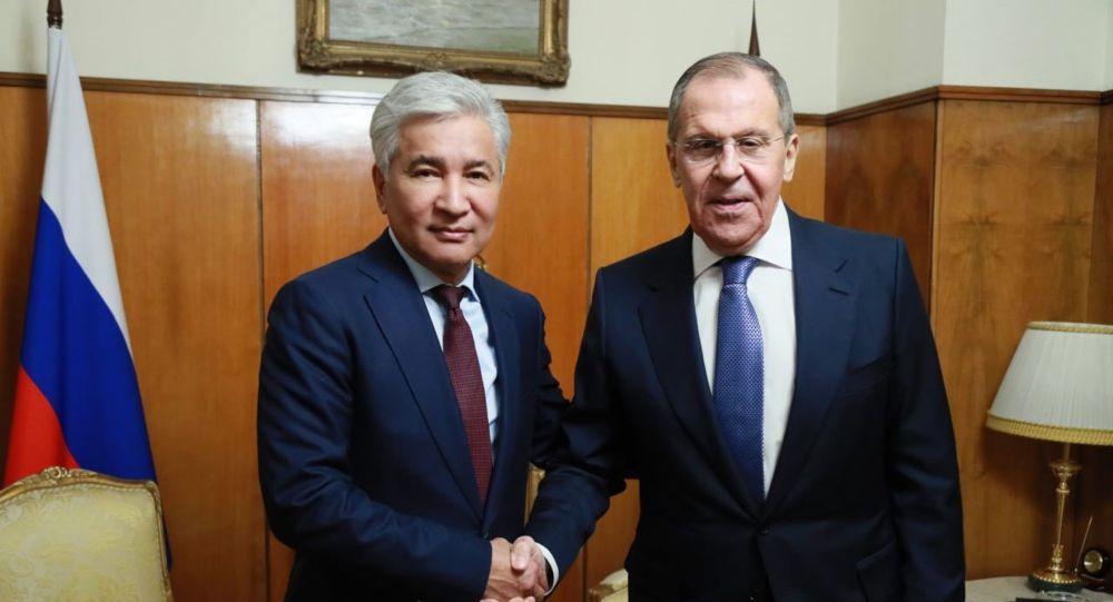 Сергей Лавров встретился с Имангали Тасмагамбетовым