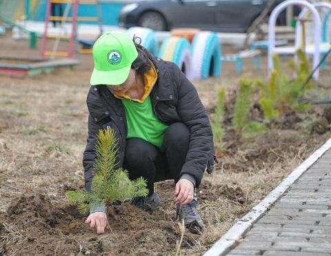 """В Павлодаре проводят акцию """"Подари дерево городу"""""""