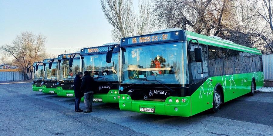 Новые автобусы выехали на дороги Алматы