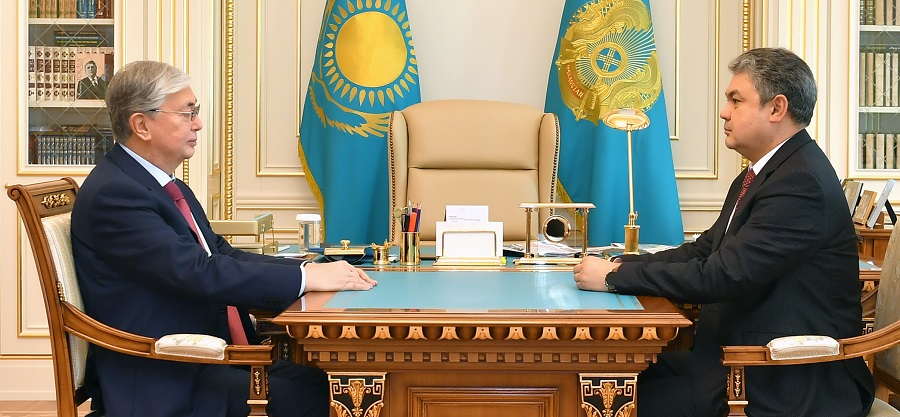 К.Токаев принял нового посла Казахстана в России