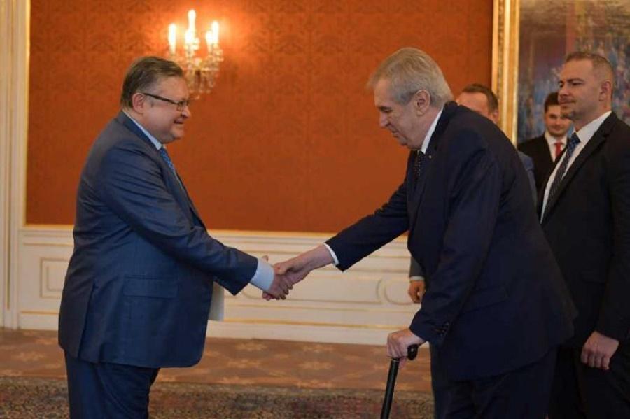 Посол РК вручил верительные грамоты Президенту Чешской Республики
