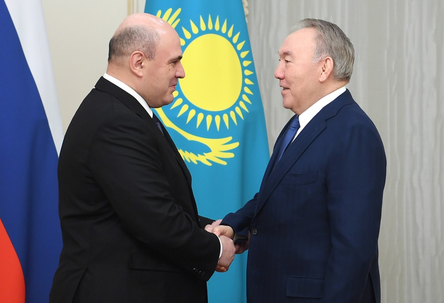 Н. Назарбаев встретился с Председателем Правительства Российской Федерации Михаилом Мишустиным